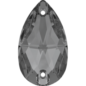 Sew-on stone - Crystal Stones - Pietra da Ricamo Pera Black Diamond - 28