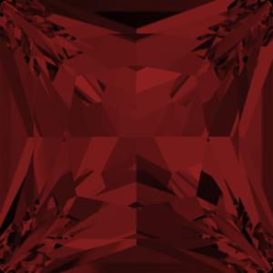 Fancy stone - Crystal Stones - Pietra di Forma Quadrata Principessa Light Siam - 104