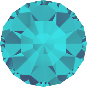 Round Chaton CB - Crystal Stones - Pietra Conica Tonda Aquamarine - 118