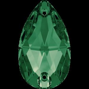 Sew-on stone - Crystal Stones - Pietra da Ricamo Pera Emerald - 17