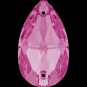 Sew-on stone - Crystal Stones - Pietra da Ricamo Pera Rose - 31
