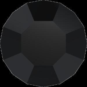 Round Chaton CB - Crystal Stones - Pietra Conica Tonda Jet Black - 132