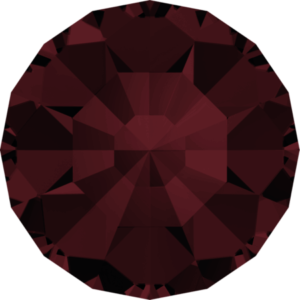 Round Chaton CB - Crystal Stones - Pietra Conica Tonda Burgundy - 133