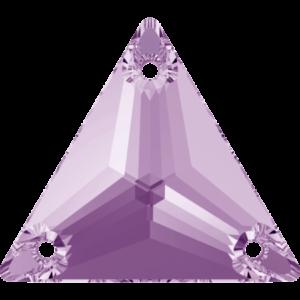 Sew-on stone - Crystal Stones - Pietra da Ricamo Triangolare Violet - 25