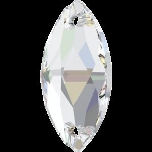 Sew-on stone - Crystal Stones - Pietra da Ricamo Navetta Crystal AB - 36