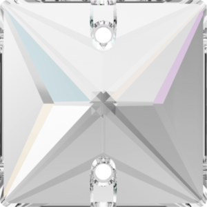 Sew-on stone - Crystal Stones - Pietra da Ricamo Quadrata Crystal AB - 36