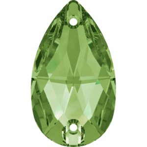 Sew-on stone - Crystal Stones - Pietra da Ricamo Pera Peridot - 24
