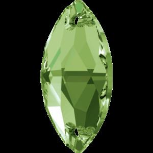 Sew-on stone - Crystal Stones - Pietra da Ricamo Navetta Peridot - 24