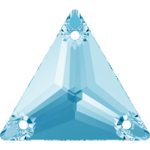 Sew-on stone - Crystal Stones - Pietra da Ricamo Triangolare Aqua Bohemica - 07