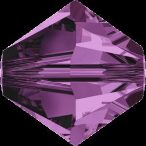 Bead stone - Crystal Stones - Pietra Perlina Bead DF-5328 Bicono Amethyst - 8034