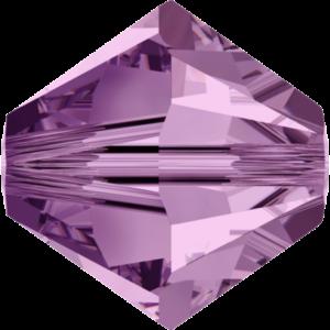 Bead stone - Crystal Stones - Pietra Perlina Bead DF-5328 Bicono Light Amethyst - 8035