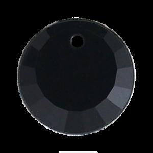 Pietra Pendente Tonda Jet Black Opaque MA01-1 - Crystal Stones