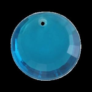 Pietra Pendente Tonda Blue Zircon MA01-39X - Crystal Stones