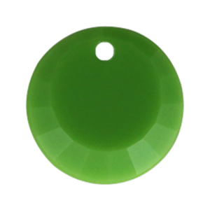Pietra Pendente Tonda Olivine Opaque MA01-F26 - Crystal Stones