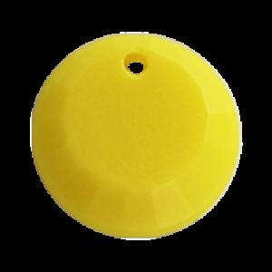 Pietra Pendente Tonda Yellow Opaque MA01-F31 - Crystal Stones