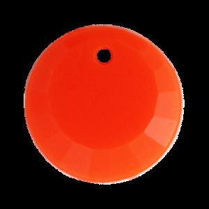 Pietra Pendente Tonda Orange Fluo Opaque MA01-F33- Crystal Stones