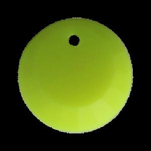 Pietra Pendente Tonda Yellow Fluo Opaque MA01-F35 - Crystal Stones