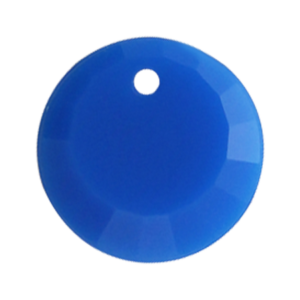 Pietra Pendente Tonda Capri Blue Opaque MA01-F37 - Crystal Stones