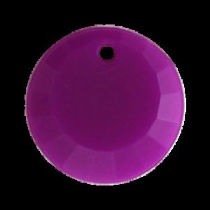 Pietra Pendente Tonda Purple Opaque MA01-F38 - Crystal Stones