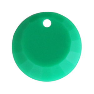 Pietra Pendente Tonda Emerald Opaque MA01-F48 - Crystal Stones