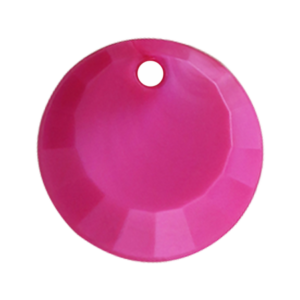 Pietra Pendente Tonda Fucsia Pearl MA01-P30 - Crystal Stones