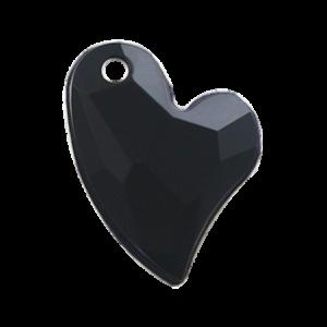 Pietra Pendente Cuore Jet Black Opaque MA02-1 - Crystal Stones