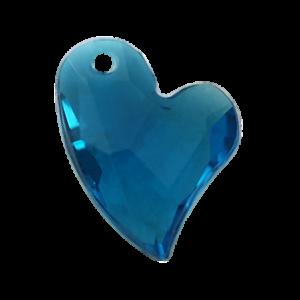 Pietra Pendente Cuore Blue Zircon MA02-39X - Crystal Stones