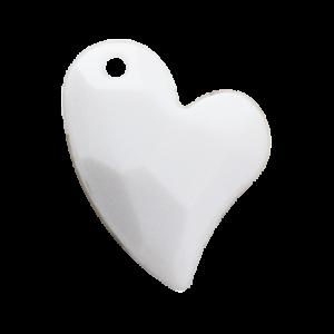 Pietra Pendente Cuore White Opaque MA02-54 - Crystal Stones