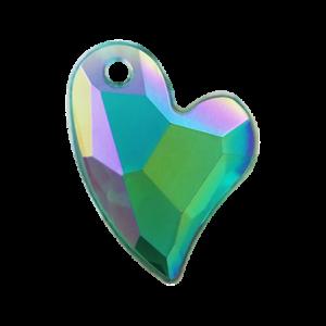 Pietra Pendente Cuore Emerald AB MA02-A6X - Crystal Stones