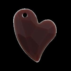 Pietra Pendente Cuore Brown Opaque MA02-F2 - Crystal Stones