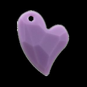 Pietra Pendente Cuore Violet Opaque MA02-F24 - Crystal Stones