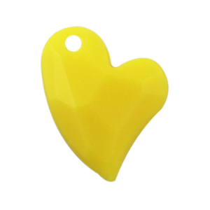 Pietra Pendente Cuore Yellow Opaque MA02-F31 - Crystal Stones