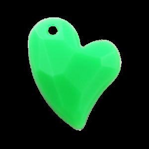 Pietra Pendente Cuore Green Fluo Opaque MA02-F36 - Crystal Stones