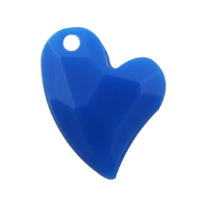 Pietra Pendente Cuore Capri Blue Opaque MA02-F37 - Crystal Stones