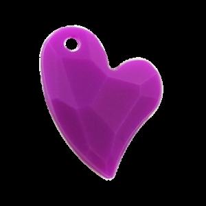 Pietra Pendente Cuore Purple Opaque MA02-F38 - Crystal Stones