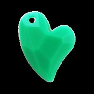 Pietra Pendente Cuore Emerald Opaque MA02-F48 - Crystal Stones