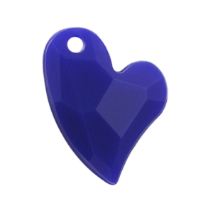 Pietra Pendente Cuore Blue Opaque MA02-F6 - Crystal Stones