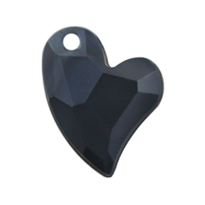 Pietra Pendente Cuore Jet Black Pearl MA02-P1 - Crystal Stones