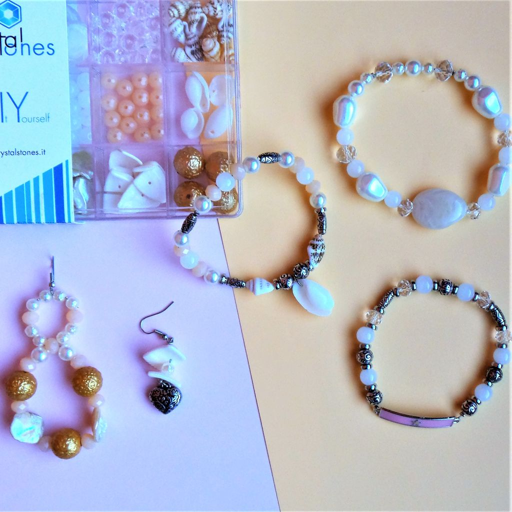 Mermaid – Kit DIY 218 Pezzi + 1 Pinza + 5,1mt filo – Kit Do It Yourself – Crystal Stones