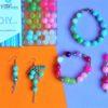 Sweet Colours - Kit DIY 231 Pezzi + 1 Pinza + 5,35mt filo - Kit Do It Yourself - Crystal Stones