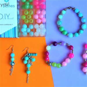 Sweet Colours - Kit DIY 231 Pezzi + 1 Pinza + 5,35mt filo - Kit Do It Yourself - Crystal Stones