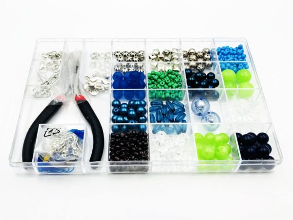 In the Ocean - Kit DIY 623 Pezzi + 1 Pinza + 7,6mt filo - Kit Do It Yourself - Crystal Stones