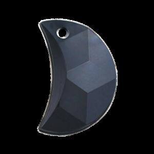 Pietra Pendente Mezzaluna Jet Black Pearl MA03-P1 - Crystal Stones