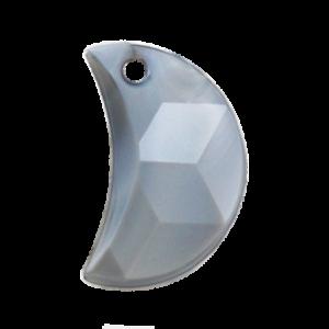 Pietra Pendente Mezzaluna Gray Pearl MA03-P35 - Crystal Stones