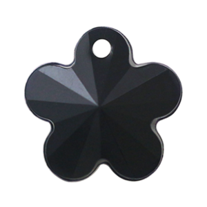 Pietra Pendente Fiore Jet Black Opaque MA05-1 - Crystal Stones