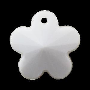 Pietra Pendente Fiore White Opaque MA05-54 - Crystal Stones