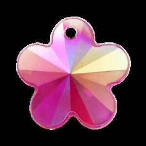 Pietra Pendente Fiore Fucsia AB MA05-A31X - Crystal Stones