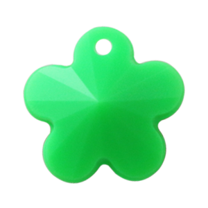 Pietra Pendente Fiore Green Fluo Opaque MA05-F36 - Crystal Stones