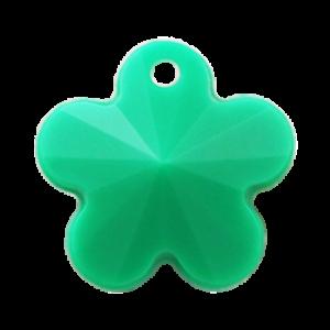 Pietra Pendente Fiore Emerald Opaque MA05-F48 - Crystal Stones