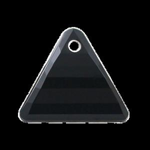 Pietra Pendente Triangolo Jet Black Opaque MA08-1 - Crystal Stones